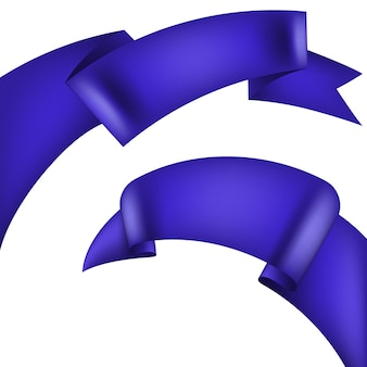 Ruban décoratif violet réaliste.