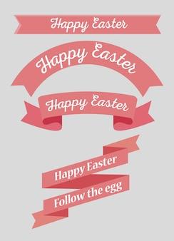 Ruban de décoration à joyeux événement de pâques