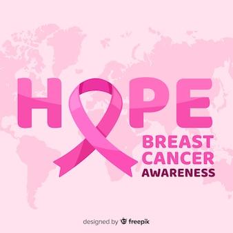 Ruban espoir pour le mois de sensibilisation au cancer du sein