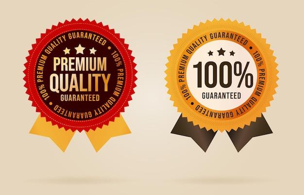 Ruban d'étiquette de garantie de qualité supérieure