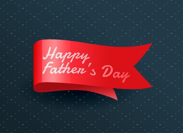 Ruban fête des pères heureux