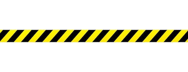 Ruban jaune isolé sur fond. bande de zone de scène de crime. toile de fond grunge