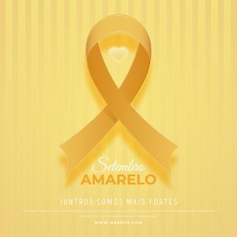 Ruban jaune de la journée mondiale de la prévention du suicide