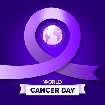 Ruban de jour du cancer en dégradé