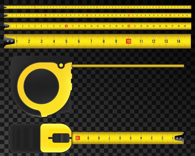 Ruban à mesurer, outil, règle, mètre, roulette.