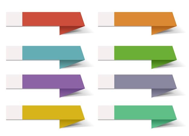 Ruban de modèle de bannière infographique colorée