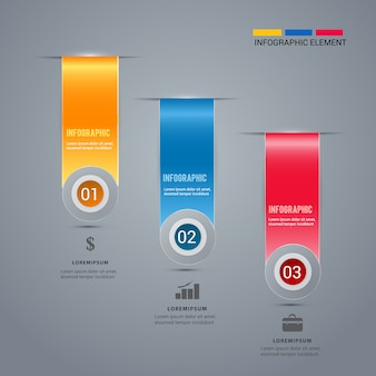Ruban moderne modèle infographique