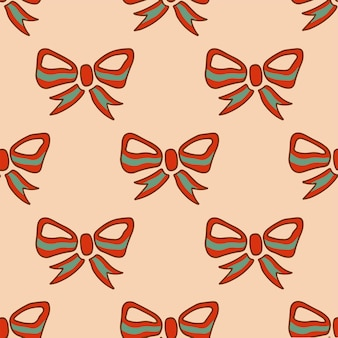 Ruban noël motif fond médias sociaux post décoration noël illustration vectorielle