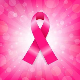 Ruban rose de cancer du sein