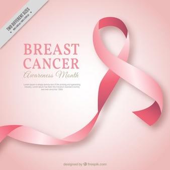 Ruban rose fond du cancer du sein