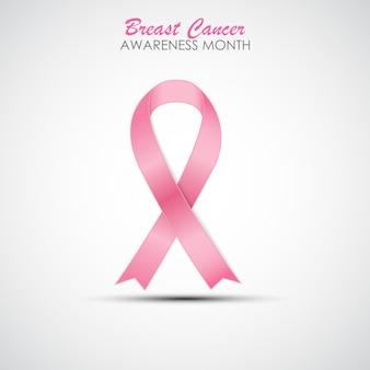Ruban rose sensibilisation au cancer du sein illustration vectorielle