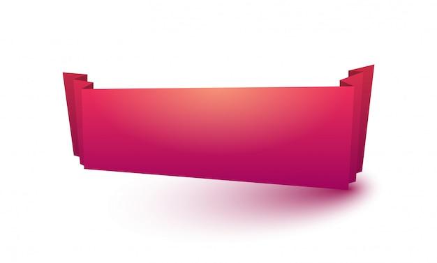 Ruban rouge avec une ombre.