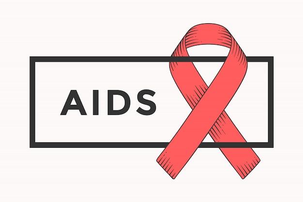 Ruban rouge, symbole du sida.