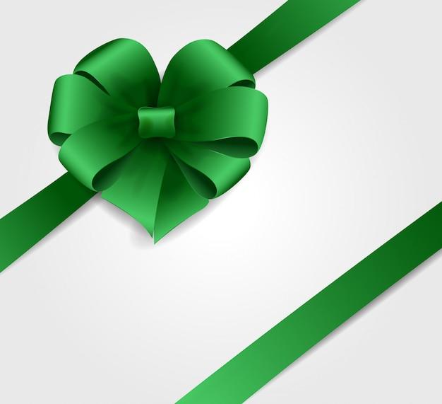 Ruban vert cadeau