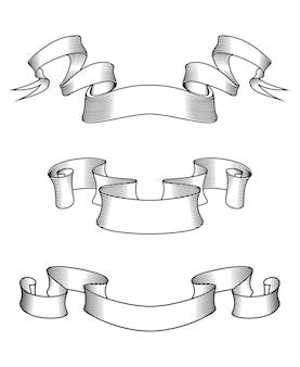 Rubans abstraits médiévaux pour la conception héraldique