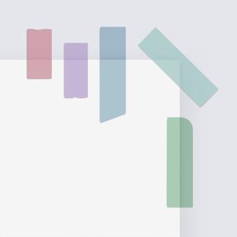 Rubans adhésifs de bande adhésive de bande de scotch de papier de masquage coloré