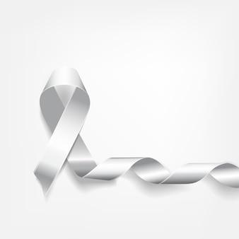 Rubans blancs symboliques sur fond blanc. ruban blanc christian temperance union pour femme. protéger la famille traditionnelle. exostoses multiples