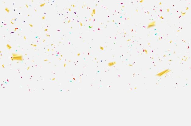 Rubans de carnaval de célébration de confettis.