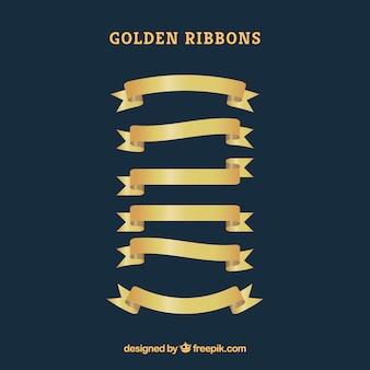Rubans dorés élégants et dorés