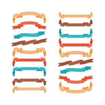 Rubans modernes colorés dans un style branché