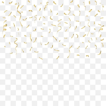 Rubans d'or de célébration de confettis d'or décor de festival avec des paillettes brillantes tombantes