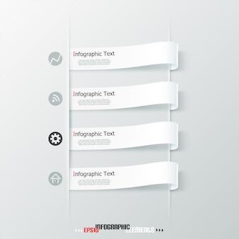 Rubans de papier d'infographie moderne