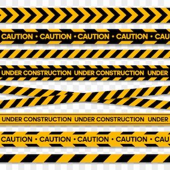 Rubans pour zones de restriction et dangereuses