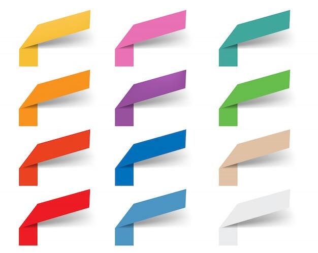 Rubans web de modèle de conception d'infographie