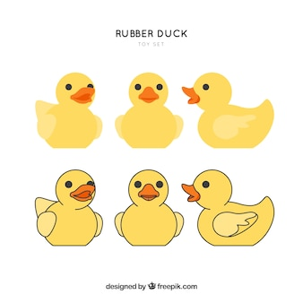 Rubber duck toy ensemble