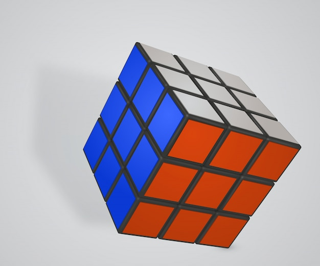Rubiks cube sur blanc