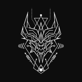 Rune démon géométrique abstraite
