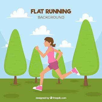 Runner background dans le parc