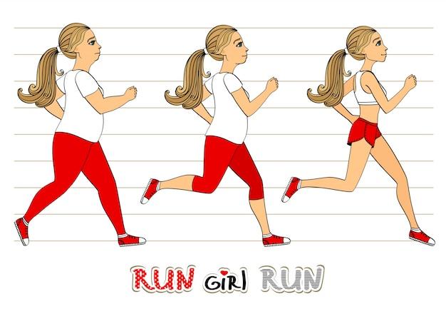 Running femme perte de poids progrès