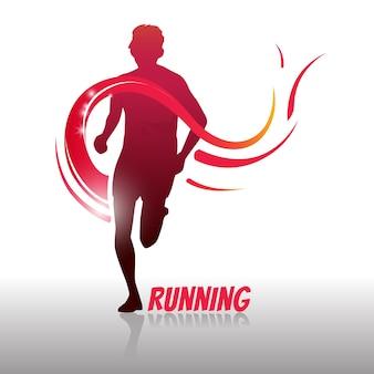 Running man logo et symbole