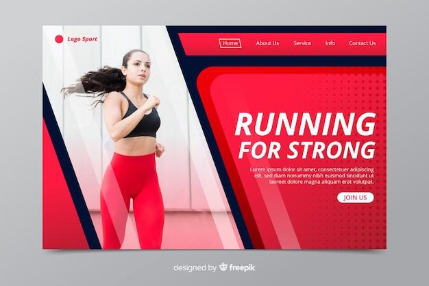 Running page de destination sportive avec image