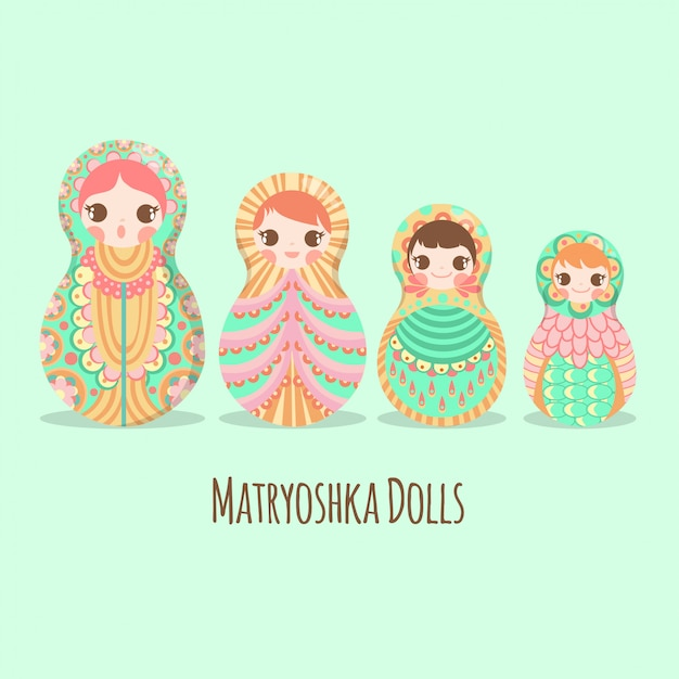 Russian art doll matryoshka russe