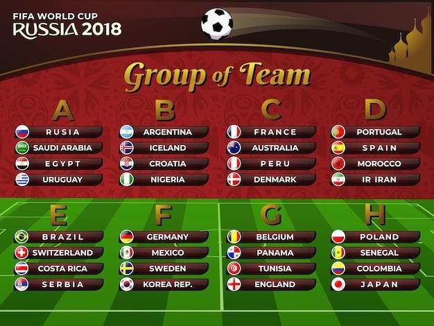 Russie 2018 équipe de football du groupe a nations de la coupe du monde fifa