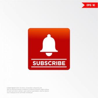 S'abonner icône de signe