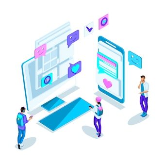 S les jeunes, la communication sur internet avec différentes personnes, la correspondance, la connaissance via internet. holographique brillant