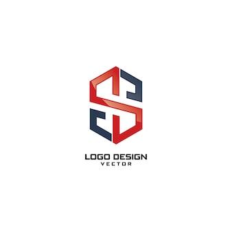 S lettre logo design vector