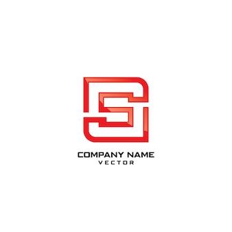 S lettre logo modèle vecteur