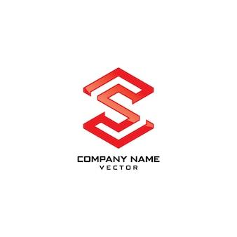 S logo logo de modèle de vecteur