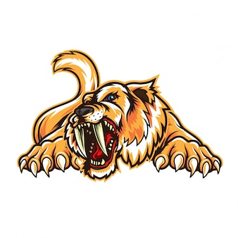 Sabertooth animal logo mascotte