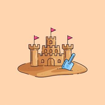 Sables du chateau de sable vibes d'été