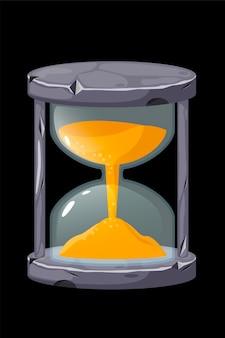 Sablier ancien en pierre pour mesurer le temps