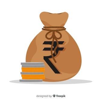 Sac d'argent roupie indienne