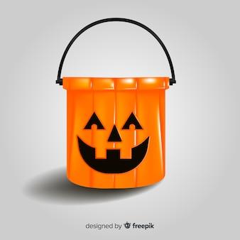 Sac de bonbons colorés d'halloween avec un design réaliste