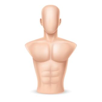 Sac de boxe réaliste 3d - corps humain
