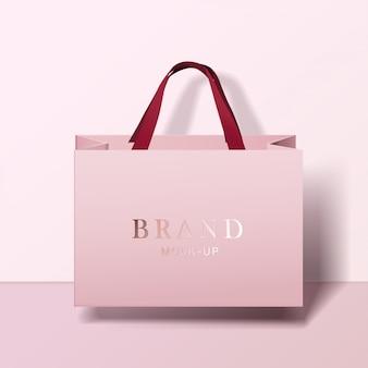 Sac de courses . sacs en papier blanc rose. shopping package de produits pour le modèle de marque d'entreprise.