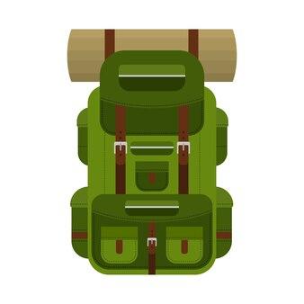 Sac à dos de camping pour la randonnée, les voyages et le tourisme. sac à dos pour équipement de camp, tapis, sacs de couchage